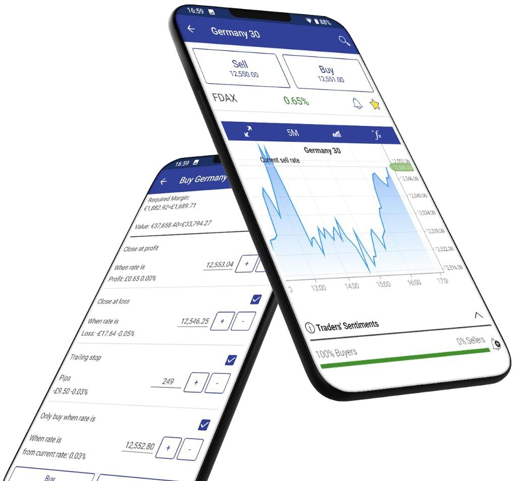 plus500 app, cfd beleggen app, aandelen app