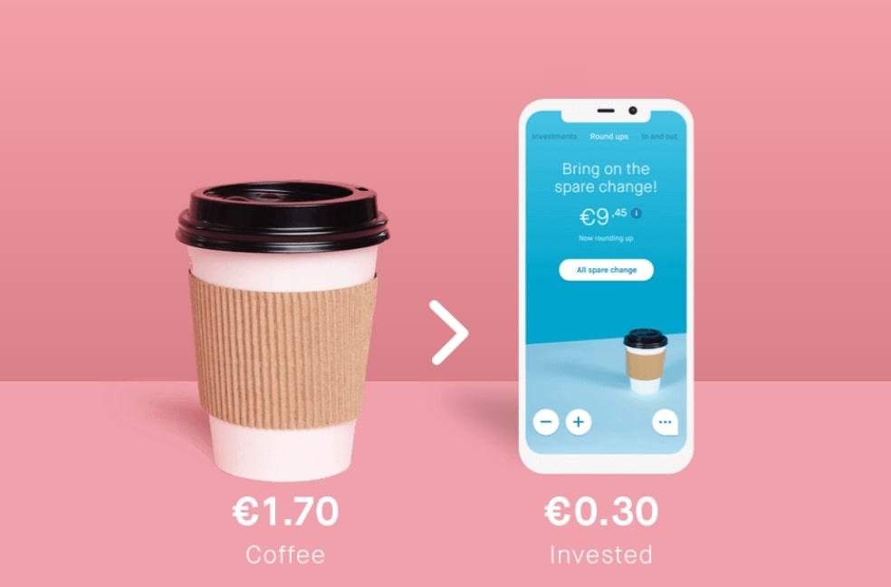 Peaks app, peaks beleggen, Beleggen met je wisselgeld
